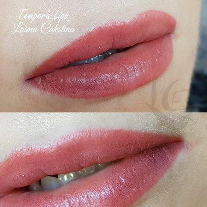 #lūpumikropigmentācija#Tempera Lips, uzreiz pēc procedūras