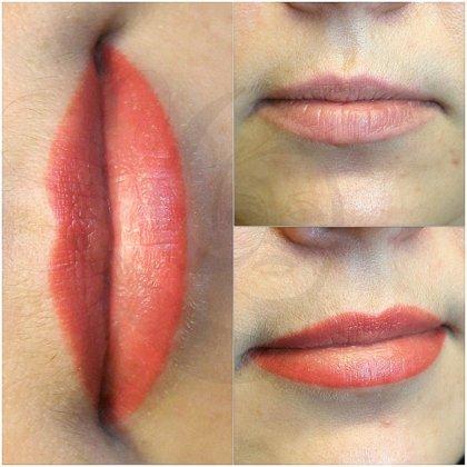 Перманентный макияж губ, после заживления