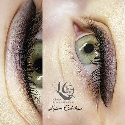 Перманентный макияж глаз, растушевка век