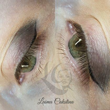 Перманентный макияж глаз, зажившая растушевка