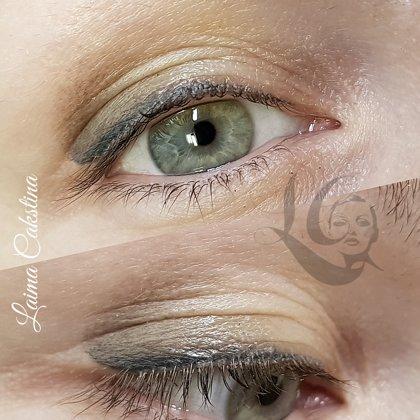 Перманентный макияж, креативная растушевка век после заживления