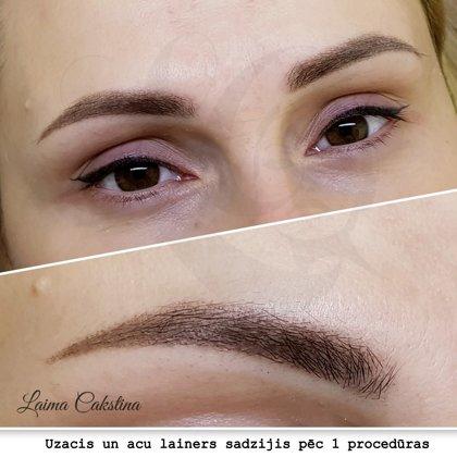 Брови зажившие, Перманентный макияж глаз, после заживления