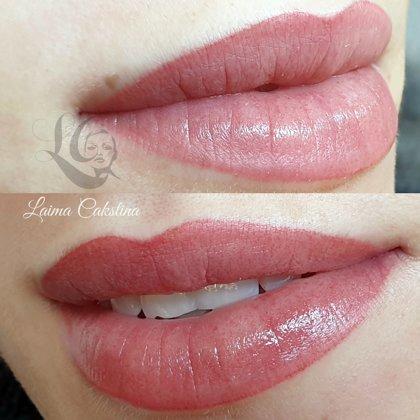 #lūpupermanentaisgrims#Перманентный макияж губ, сразу после процедуры