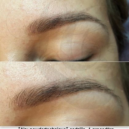 Airy Powder brows, healed