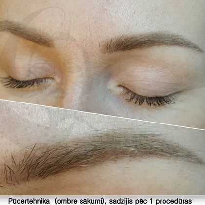 Permanent makeup, Airy Powder, healed