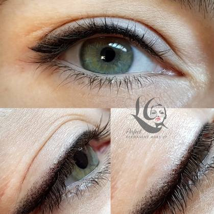 Permanent makeup.   Eyeliner with shading