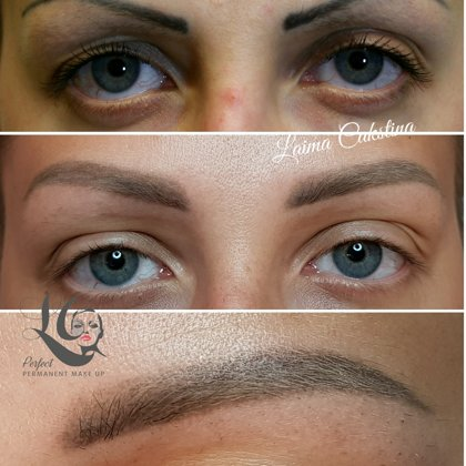Permanent make-up, Correction work, healed