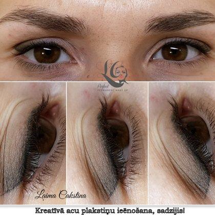 Eye permanent makeup# healed!