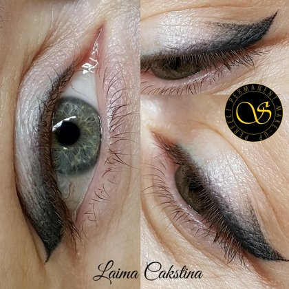 Eye permanent, creative shading, healed