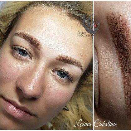 Demo work! Brows Airy Powder. Permanent makeup