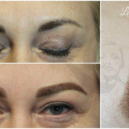 Brows correction, permanent makeup