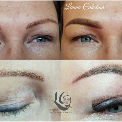 Permanent make up! Correction work brows and eyes