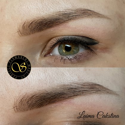 Permanent, brows and eye healed