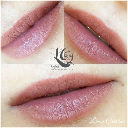 Tempera Lips, healed. Permanent makeup