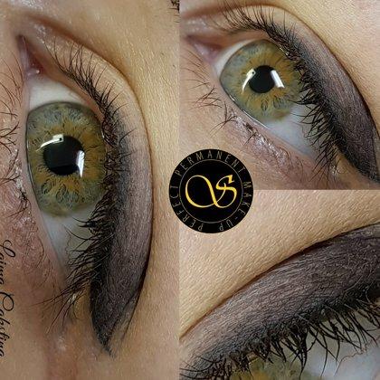Eye permanent make - up! Healed shading