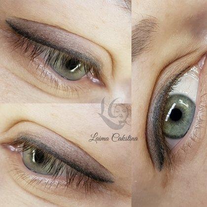 #permanents#Перманентный макияж глаз, после заживления