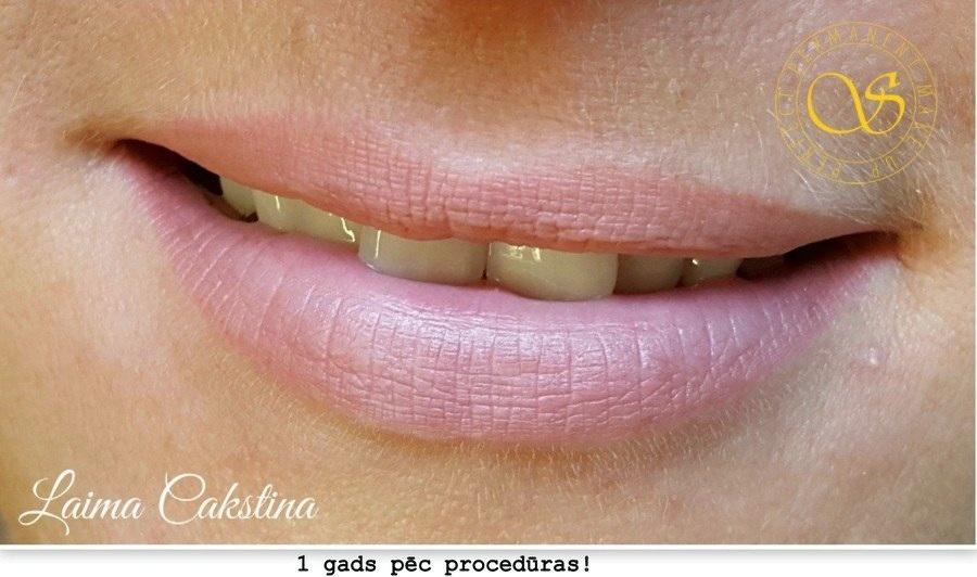 permanent art, lūpas